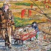 Grandpa's Helper Art Print