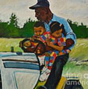 Grandpas Helpers Art Print