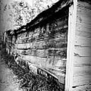 Grandpa's Wood Shed Black And White Art Print