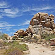 Granite Boulders In The Desert Art Print