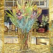 Granite Bouquet Vangogh Vision Art Print