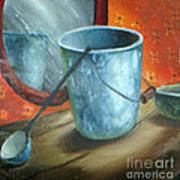 Granite Bucket Reflections Art Print