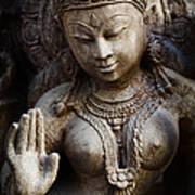 Granite Indian Goddess Print by Tim Gainey