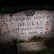 Granite Monument Quoddy Head State Park Art Print