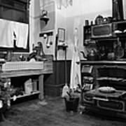 Granny\'s Kitchen - Bw Framed Print by Marilyn Wilson