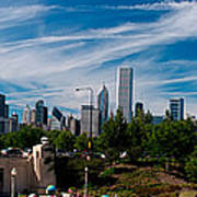 Grant Park Chicago Skyline Panoramic Art Print