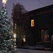 Grants Pass Town Center Christmas Tree Art Print