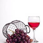 Grape Juice Art Print