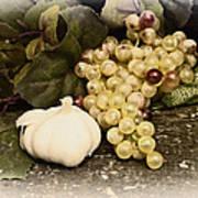 Grapes And Garlic Art Print