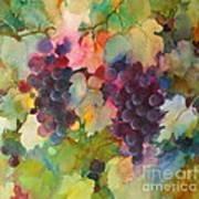 Grapes In Light Art Print
