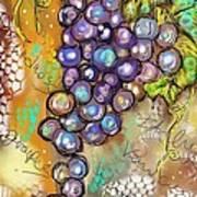 Grapes In The Vineyard  Art Print