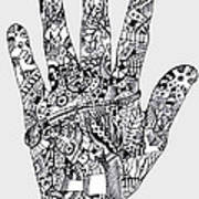 Graphic Hand Art Print