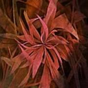 Grass Abstract - Fire Art Print