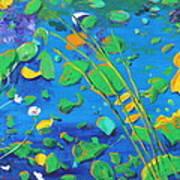 Grass Over Pond Art Print
