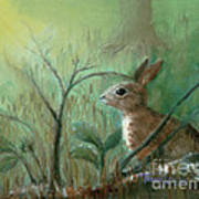 Grass Rabbit Art Print