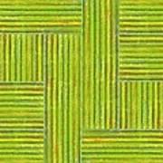 Grassy Green Stripes Art Print