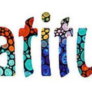Gratitude 1 - Inspirational Art Art Print