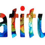 Gratitude 2 - Inspirational Art Art Print