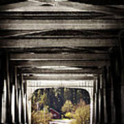Grave Creek Covered Bridge Art Print