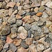 Gravel Stones Art Print