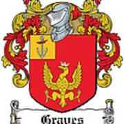 Graves Coat Of Arms Irish Art Print