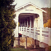 Grave Creek Covered Bridge Art Print