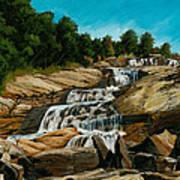 Graveyard Falls Blue Ridge Parkway Art Print