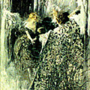 Graveyard Talk 1899 Art Print by Padre Art