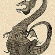 Gray Dragon Art Print