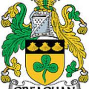 Greaghan Coat Of Arms Irish Art Print