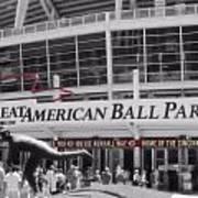 Great American Ball Park And The Cincinnati Reds Art Print