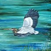 Great Blue Heron-3a Art Print
