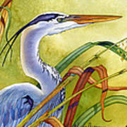 Great Blue Heron Print by Lyse Anthony