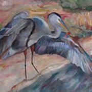 Great Blue Heron Art Print by Susan Hanlon