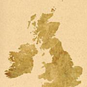 Great Britain Map Art Print