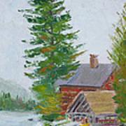 Great Camp Sagamore Boat House Art Print
