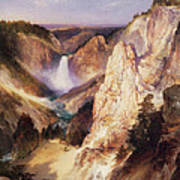 Great Falls Of Yellowstone Art Print by Thomas Moran