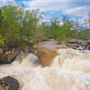 Great Falls White Water #5 Art Print