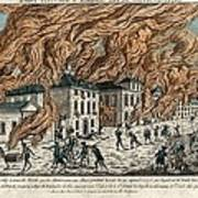 Great Fire Of New York, 1776 Art Print by Science Photo Library