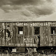 Great Northern Caboose Art Print