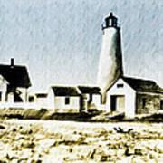 Great Point Lighthouse Nantucket Art Print
