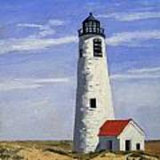 Great Point Lighthouse Nantucket Massachusetts Art Print