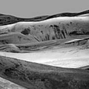 Great Sand Dunes - 1 - Bw Art Print