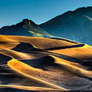 Great Sand Dunes At Dawn Art Print