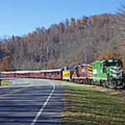 Great Smoky Mountains Railroad #777 4 Art Print