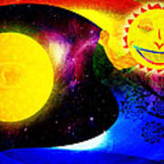 Great Sun Jester And The Night Sky Art Print