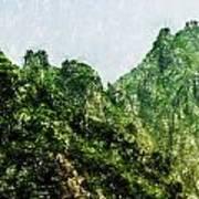 Great Wall 0043 - Pastel Pencils Hp Art Print
