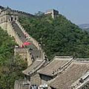 Great Wall Red Umbrella Art Print