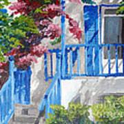 Greec House Art Print by Soumya Bouchachi
