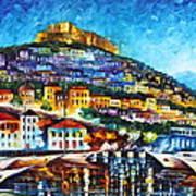 Greece Lesbos Island 2 Art Print by Leonid Afremov